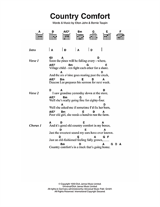 Country Comfort Sheet Music