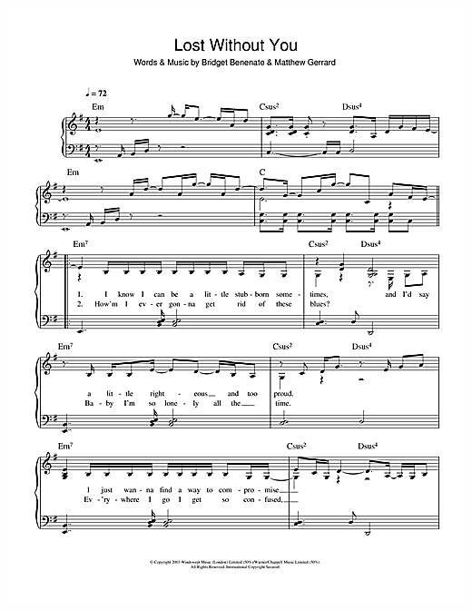 Lost Without You Sheet Music