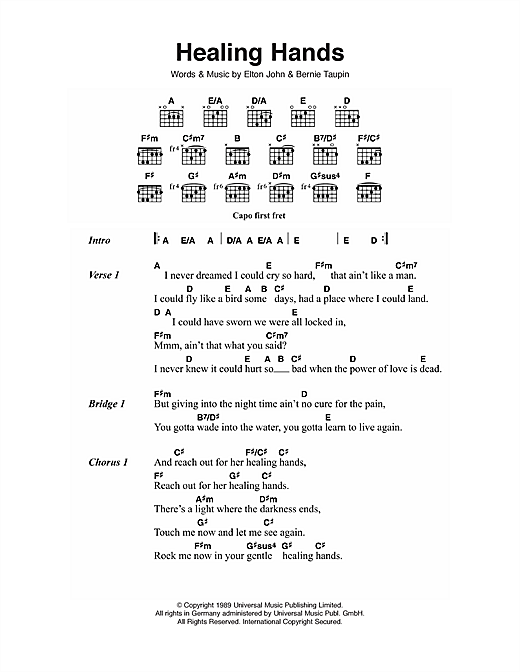 Healing Hands Sheet Music