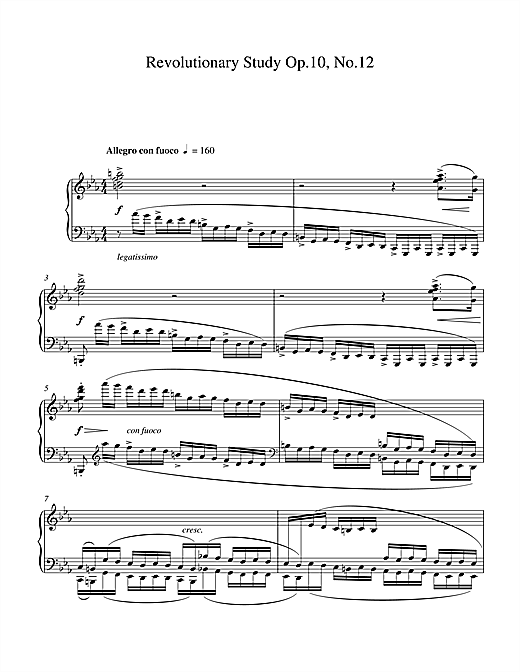 Revolutionary Study Op.10 No.12 Sheet Music