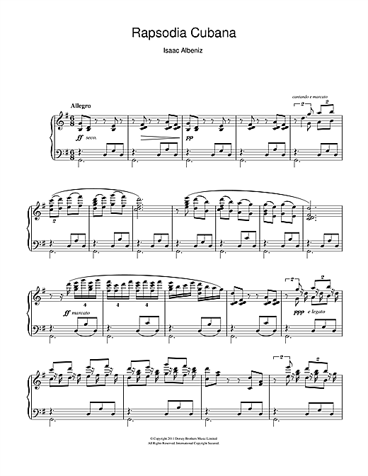 Rapsodia Cubana Sheet Music