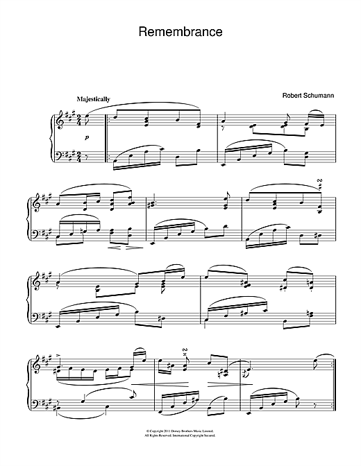 Remembrance Sheet Music