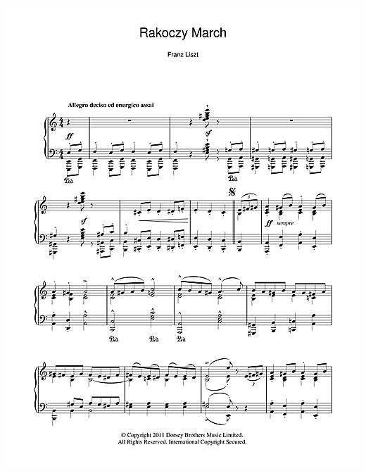 Rakoczy March (Piano Solo)