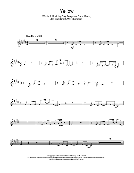 Yellow Sheet Music