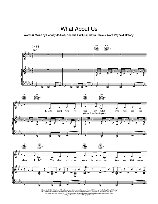 What About Us? Sheet Music