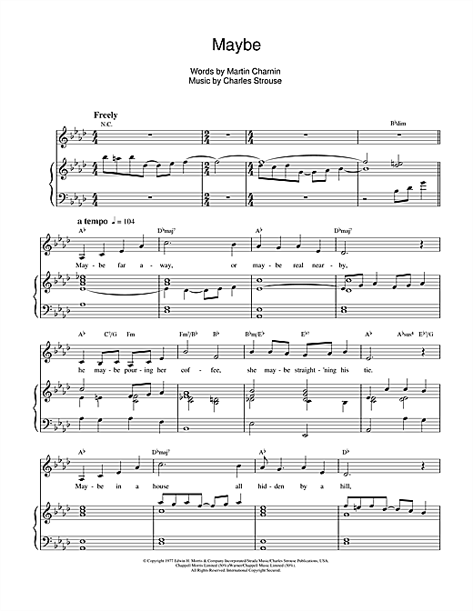 Maybe (from Annie) Sheet Music