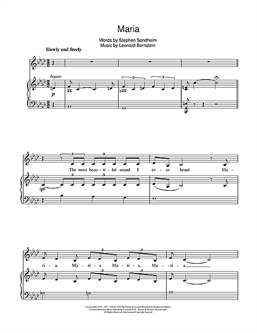 Maria (from West Side Story) Sheet Music