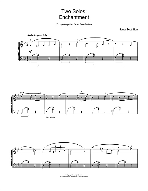 Partition piano Enchantment de Janet Scott Bon - Piano Solo