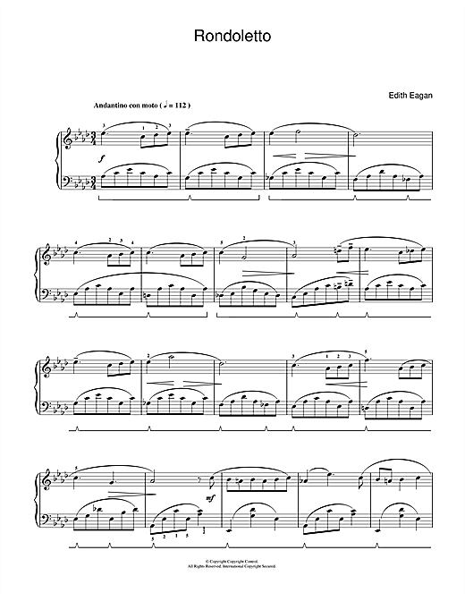 Rondoletto Sheet Music
