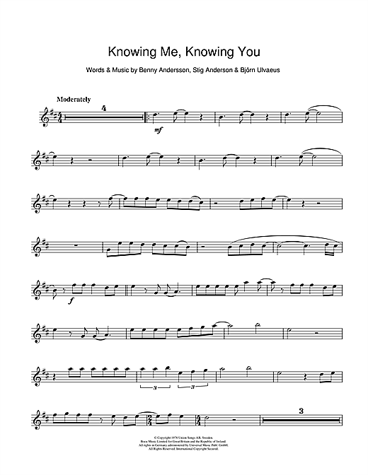 Knowing Me, Knowing You Sheet Music