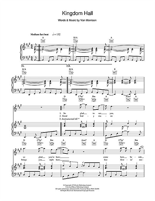 Kingdom Hall Sheet Music