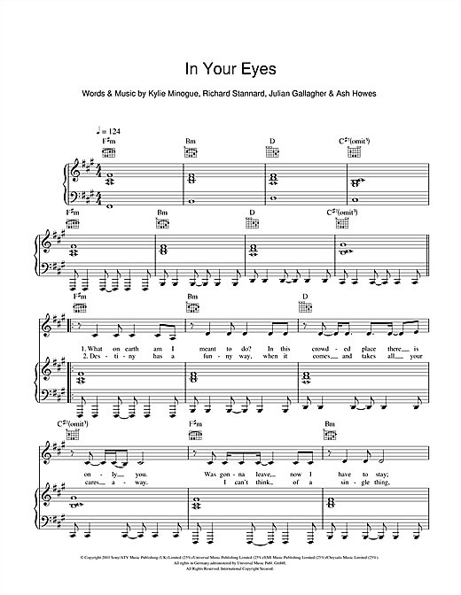 In Your Eyes Sheet Music