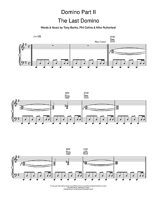 Domino Part 2: The Last Domino Sheet Music
