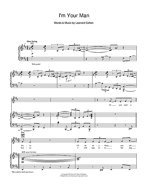 I'm Your Man Sheet Music