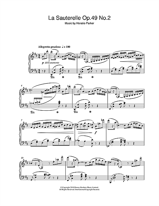 La Sauterelle Op.49 No.2 Sheet Music