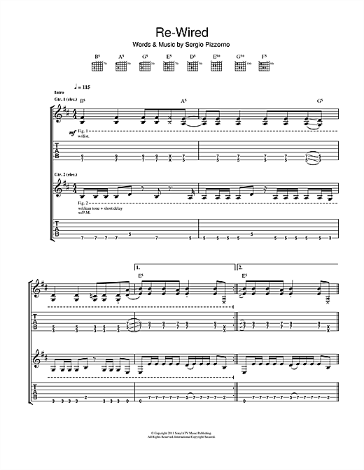Re-Wired (Guitar Tab)