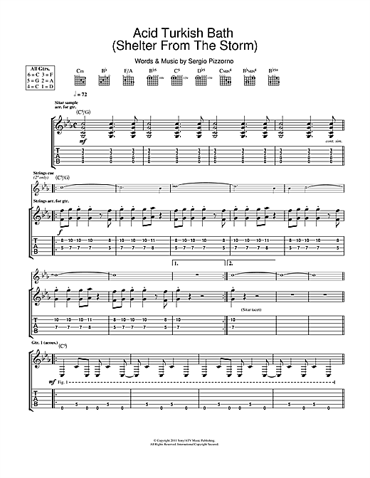 Acid Turkish Bath (Shelter From The Storm) Sheet Music