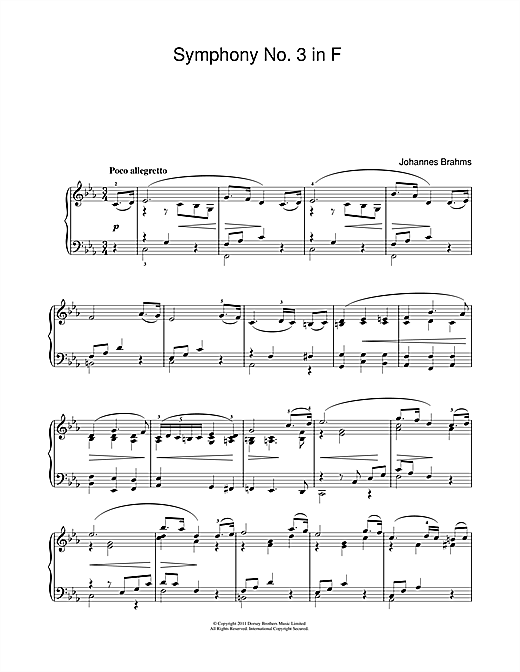 Allegretto From Symphony No.3 Sheet Music