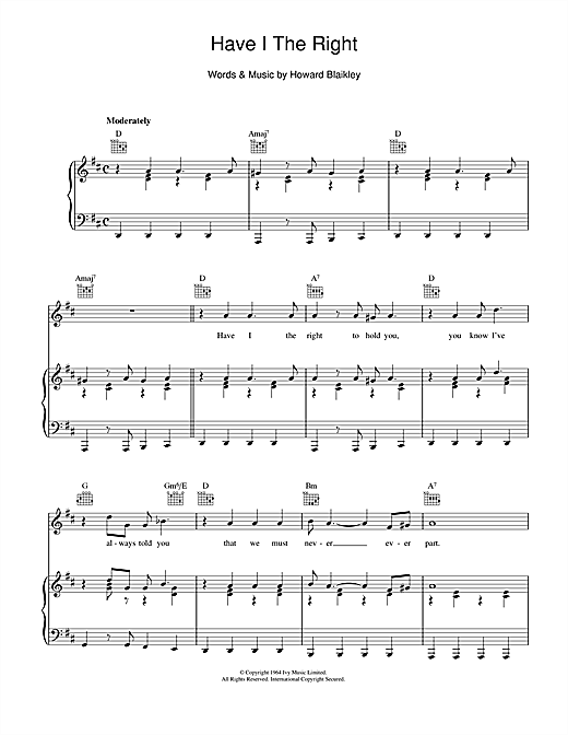 Have I The Right Sheet Music
