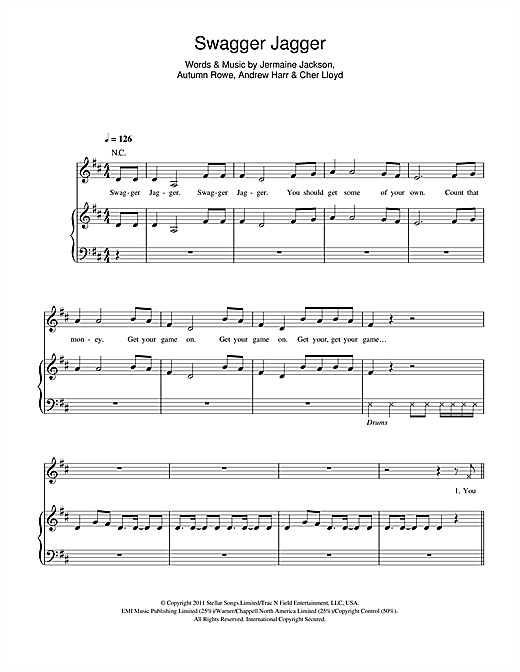Swagger Jagger Sheet Music