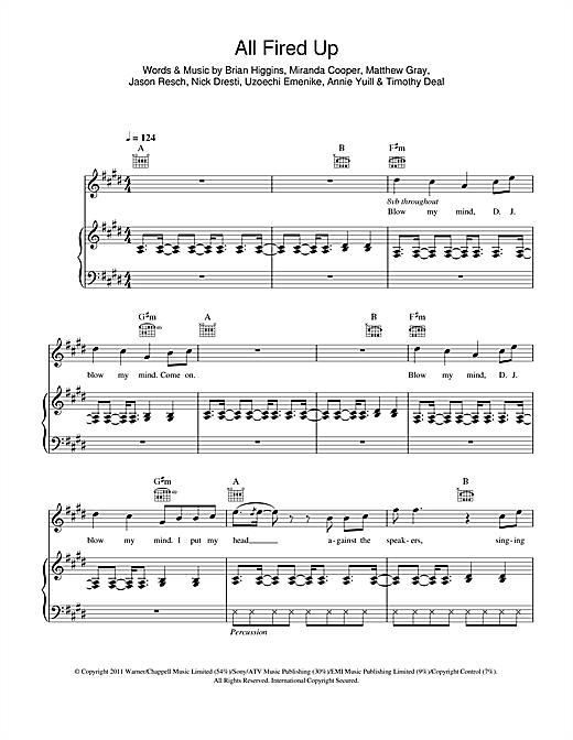 All Fired Up Sheet Music
