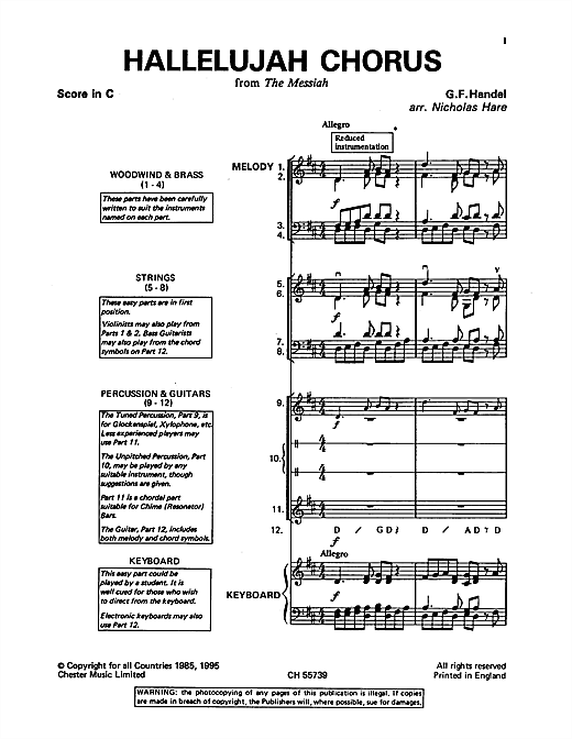 Hallelujah Chorus (from The Messiah) Sheet Music