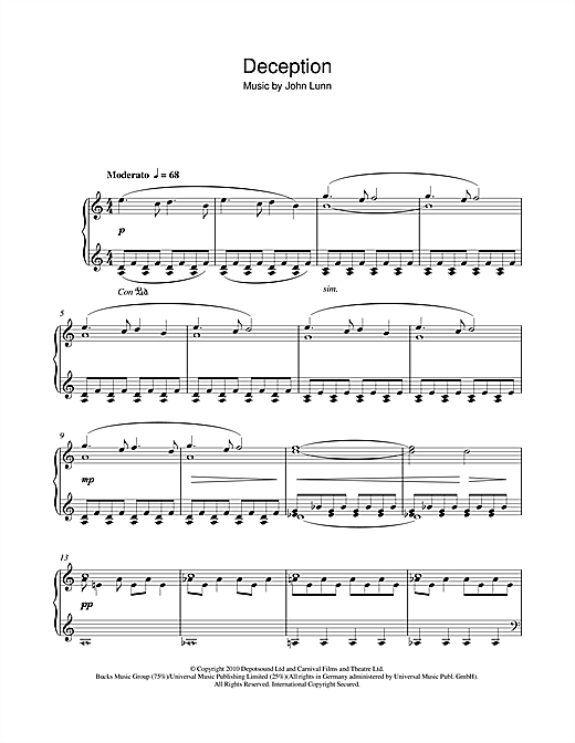 Deception Sheet Music