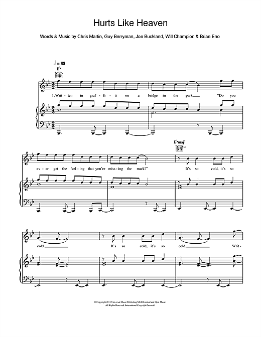Hurts Like Heaven Sheet Music