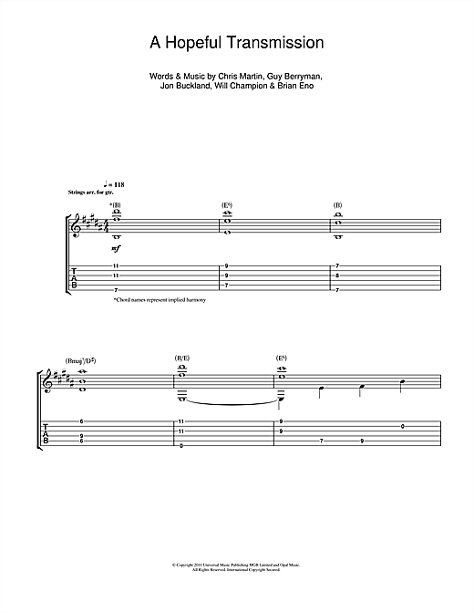 A Hopeful Transmission (Guitar Tab)