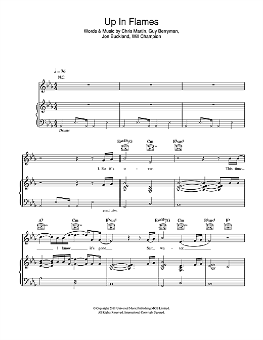 Up In Flames Sheet Music