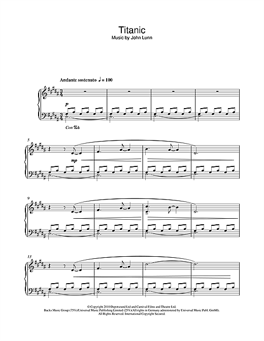 Titanic Sheet Music