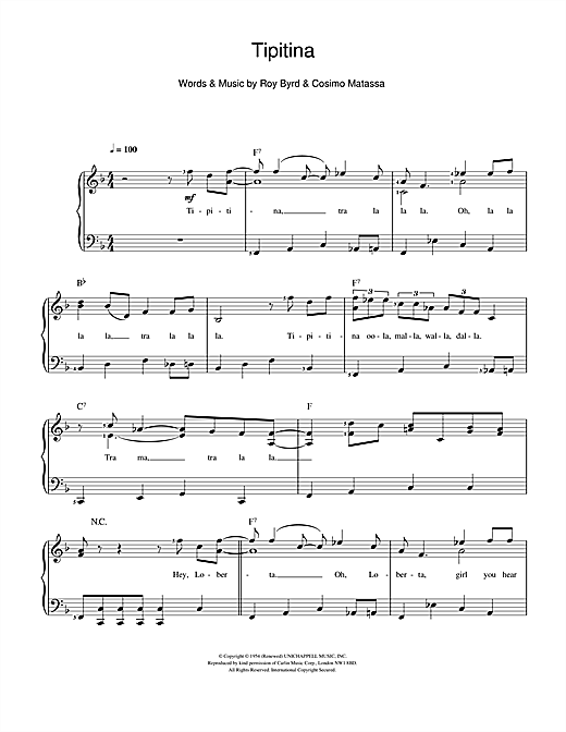 Tipitina Sheet Music