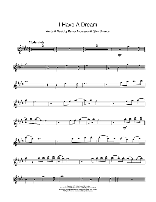 I Have A Dream Sheet Music