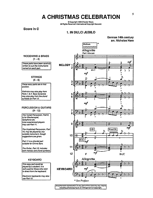 A Christmas Celebration Sheet Music