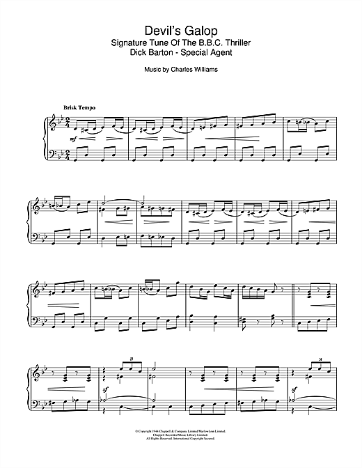 Devil's Galop (Theme to Dick Barton) Sheet Music