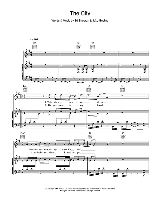 The City Sheet Music