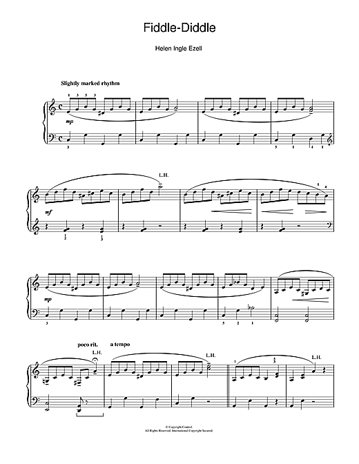 Fiddle-Diddle Sheet Music