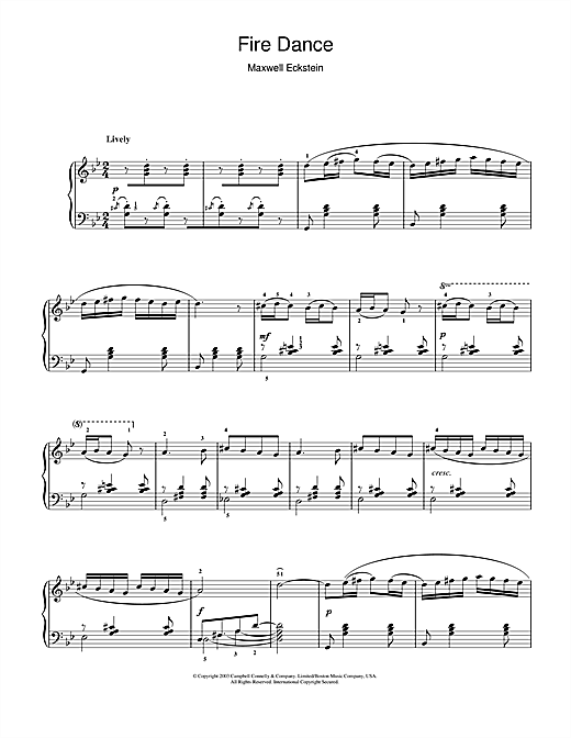 Fire Dance Sheet Music