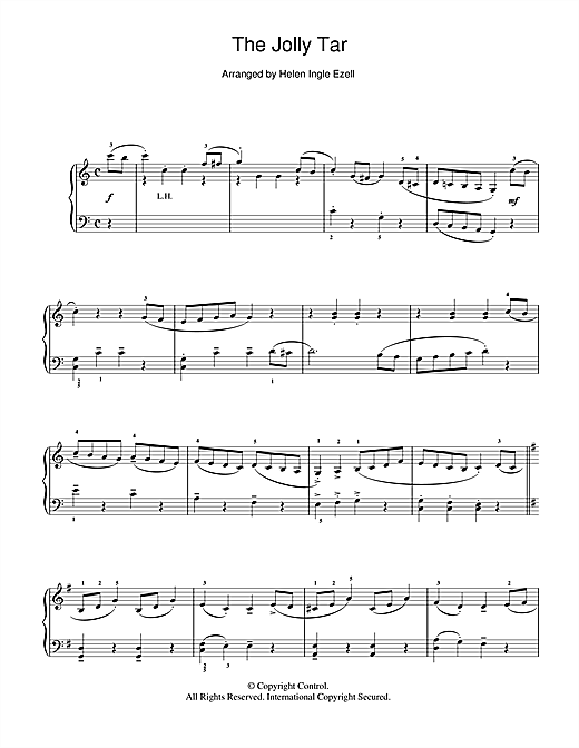 Partition piano The Jolly Tar (Traditional Tune) de Traditional - Piano Solo