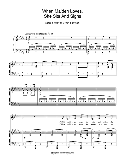 When Maiden Loves She Sits And Sighs Sheet Music