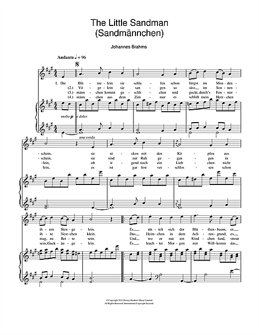 Sandmannchen (The Little Sandman) Sheet Music
