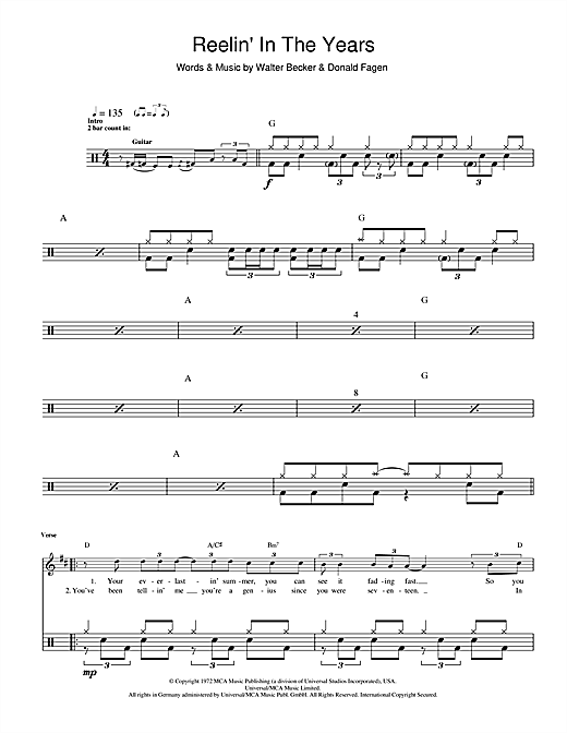 Reelin' In The Years Sheet Music