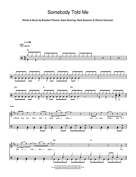 Somebody Told Me Sheet Music