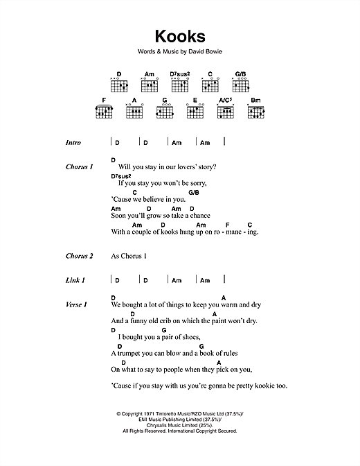 Kooks Sheet Music