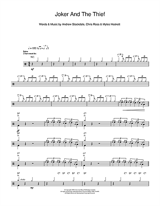 Joker & The Thief Sheet Music