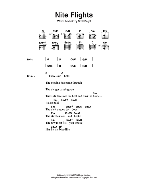 Nite Flights (Guitar Chords/Lyrics)