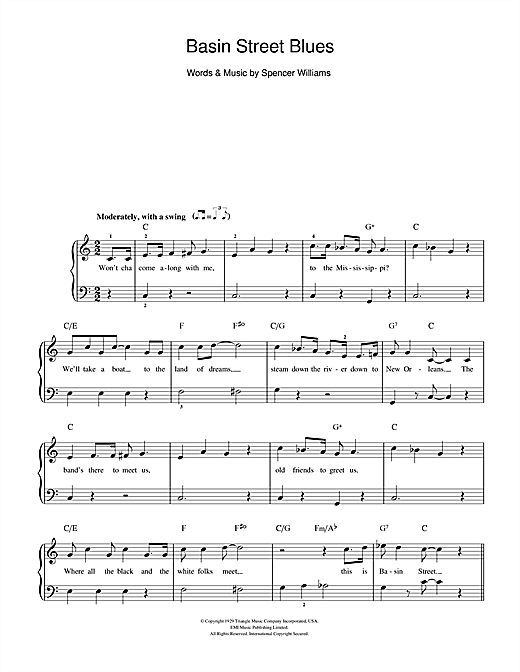 Basin Street Blues Sheet Music