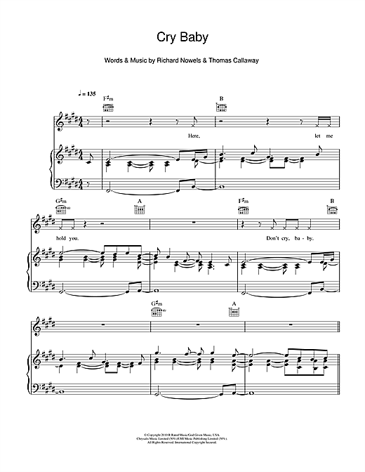 Cry Baby Sheet Music