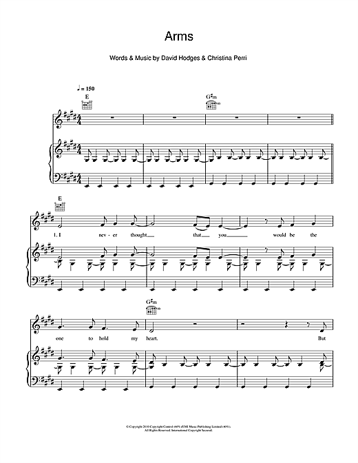 Arms Sheet Music