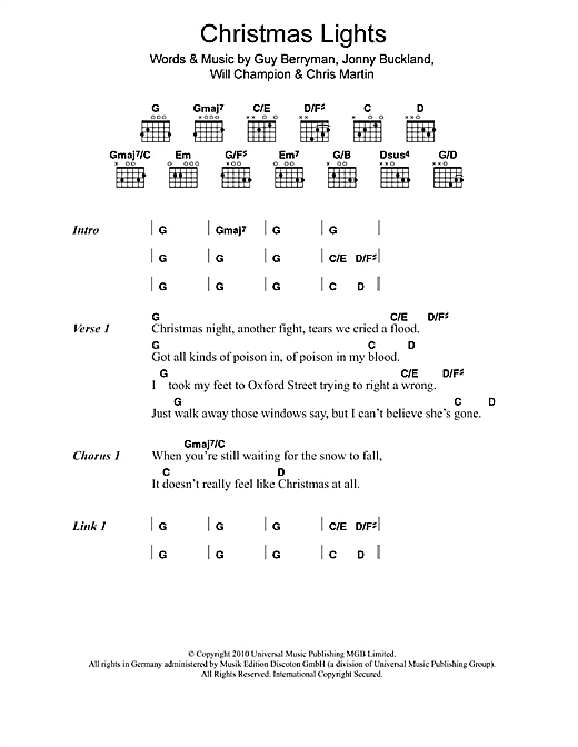 Coldplay Warning Sign Chords Copd Blog D